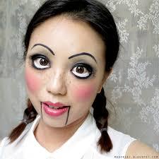 Creepy Doll Costume Easy Creepy Doll Halloween Makeup Tutorials Cathy