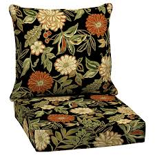 shop arden outdoor floral deep seat patio chair cushion at