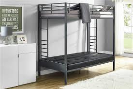 DHP Furniture Jasper Premium Twin Over Futon Bunk Bed With Black - Futon mattress for bunk bed