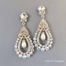 Chandelier Earrings Etsy Bridal Chandelier Earrings Wedding Earrings By Adriajewelry