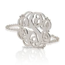 Three Initial Monogram Necklace Best 25 Sterling Silver Monogram Necklace Ideas On Pinterest