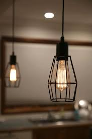 Caged Pendant Light Black Industrial Cage Pendant Light For Kitchen Dining U0026 Living