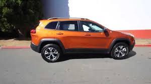 orange jeep cherokee 2015 jeep cherokee trailhawk mango tango fw755675 redmond