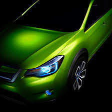 subaru crosstrek green subaru xv concept officially revealed