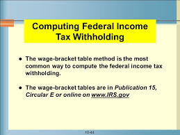 Irs Tax Withholding Tables Chapter 10 Skyline College Ppt Download