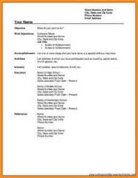 15 fill in resume template free 6 cv form download pdf fillin