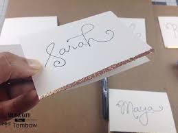 diy place cards tombow usa