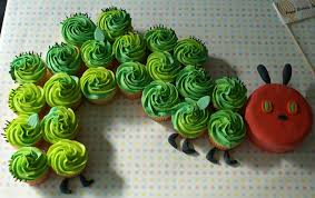 hungry caterpiller cupcakes party train grandma ideas