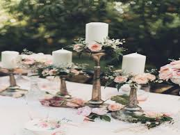 wedding centerpieces with flowers and floating candles archives