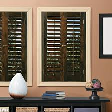 home depot interior shutters homebasics plantation walnut real wood interior shutter price