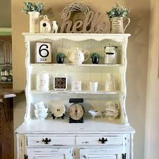 my hutch that i chalk painted and distressed for my rae dunn