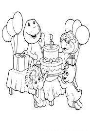 barney friends celebrate birthday coloring pages place