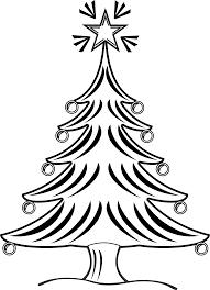 clipartist net clip art xmas christmas tree 14 black white