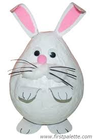papier mache bunny craft kids crafts firstpalette