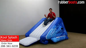 intex kool splash inflatable water slide video review by rubber