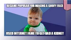 Internet Kid Meme - success kid meme internet kid uses status in hopes to score dad a