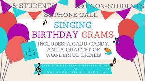 send a birthday gram singing birthday grams women s chorus