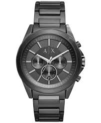black stainless bracelet images A x armani exchange men 39 s chronograph black stainless steel tif