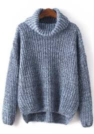 high sweaters grey plain high neck pullover sweater pullovers sweaters tops