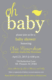 yellow and gray baby shower invitations marialonghi com