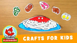 spaghetti craft for kids maple leaf learning playhouse youtube
