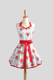 halloween aprons for adults sweetheart retro apron cute womens apron in red roses and
