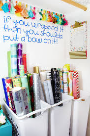organizing with style 10 genius wrapping paper organizing ideas