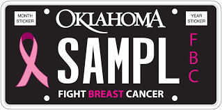 Breast Cancer Flags Oklahoma Tax Commission Special Interest Plates
