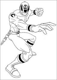 power rangers guard holding sword power rangers coloring pages