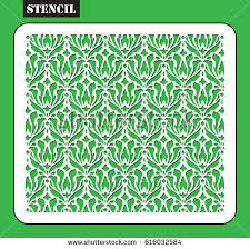 laser cut template stencil template pattern stock vector 417773434