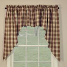 Fishtail Swag Curtains Living Room Curtains With Attached Valance Fishtail Swag Curtains