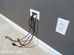 Cable Management System For Wall Mounted Tv Decorating Cents Wall Mounted Tv And Hiding The Cords