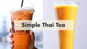 cara membuat thai tea latte cara membuat thai tea ala dum dum cheat day youtube