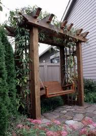 like the pergola with different swing u0026 have a climbing plant on