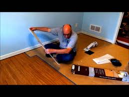Vinyl Flooring Basement Installing Allure Trafficmaster Resilient Vinyl Flooring Youtube