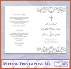 Diy Wedding Programs Templates Wedding Programs Template Sop Example