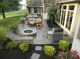 Outdoor Patio Landscaping Best 25 Concrete Patios Ideas On Pinterest Concrete Patio
