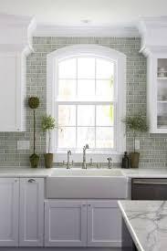 kitchen with subway tile backsplash grey green subway tile absolutely this backsplash