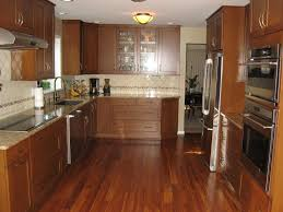 interior outstanding brown wooden kitchen cabinet combine white