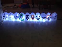 Halloween Decorations Using Milk Jugs - halloween milk jug lanterns with pictures