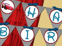 Printable Flags Printable Flag Banner Boy Disney Cars Birthday Party Line Stys