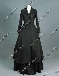 Sherlock Halloween Costumes Victorian Game Thrones Sherlock Holmes Gothic Black Coat Dress