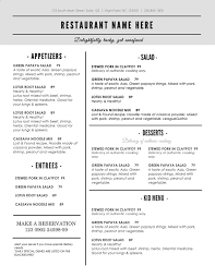 5 course menu template word menu templates templates franklinfire co