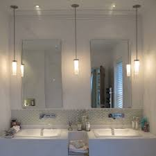 Can Lights In Bathroom How High Should Bathroom Pendants Be Hung Above Sink Yahoo