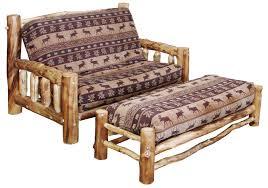 rustic aspen log twin futon rustic log furniture the log