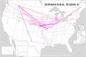 Lebanon Hills Map Everything Is Bears Supernatural Season 8 Map With Episode