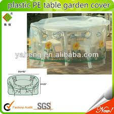 Plastic Patio Furniture Covers by Pe Transparent Outdoor Furniture Cover Pe Transparent Outdoor