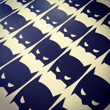 mini batman vivid wall decals super hero batman masks wall decals