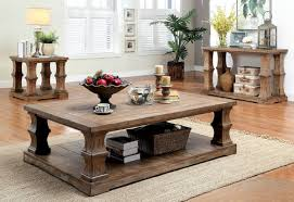 Granard Transitional Style Natural Tone Coffee Table