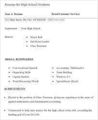 free resume templates for high students high resume 9 free sles exles format